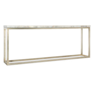 Melange White and Champagne Simona Console Table
