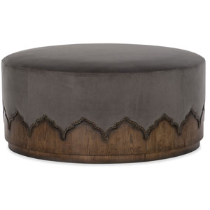 Melange Medium Wood Meyers Cocktail Ottoman