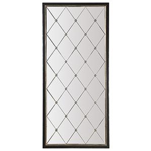 Melange Black Cecilia Floor Mirror