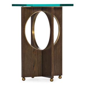 Melange Dark Wood 16-Inch Clyde End Table