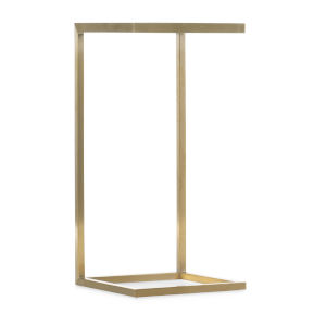 Melange Gold 12-Inch C-Shape Accent Table