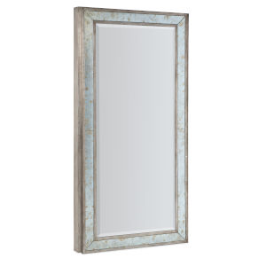 Melange McAlister Silver Floor Mirror with Jewelry Storage