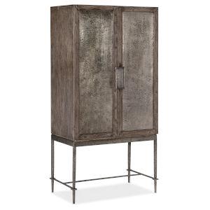 Melange Dark Wood Bar Cabinet