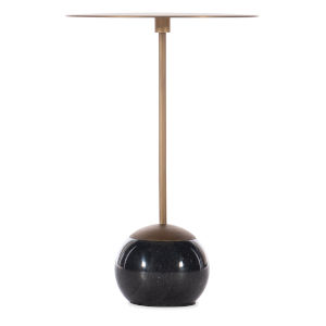 Melange Leona Black Marble End Table
