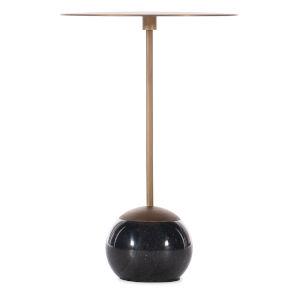 Melange Leona Black Marble End Table