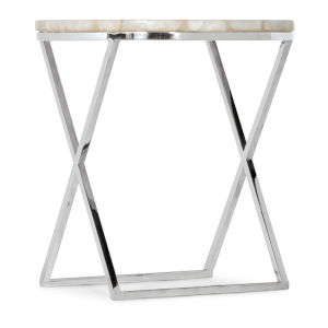 Melange Stainless Steel Accent Table
