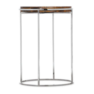 Melange Stainless Steel 18-Inch Accent Table