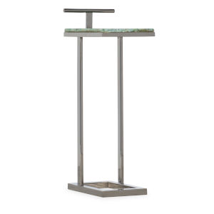 Melange Silver Metal 13-Inch C-Shape Accent Table