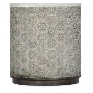 Melange Gray Resin Round End Table