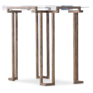 Melange Antique Brass End Table