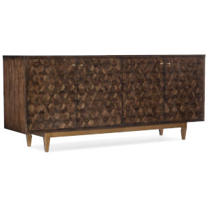 Melange Medium Wood Four-Door Credenza
