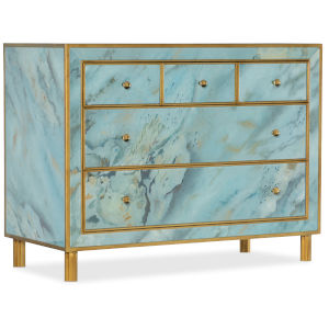 Melange Blue Five-Drawer Chest