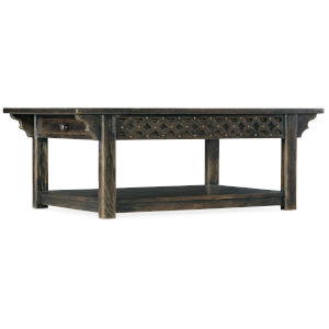 La Grange Antique Varnish Rectangular Cocktail Table