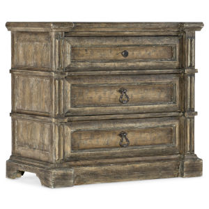 La Grange Wash Off Three-Drawer Nightstand