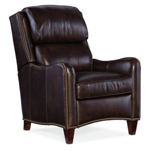 Henley Chocolate Brown 30-Inch Pushback Recliner