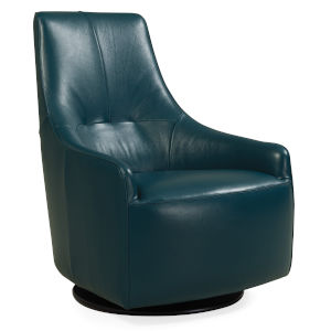 Agosto Blue Swivel Club Chair