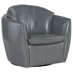 Vogue Vintage Dark Gray Swivel Chair