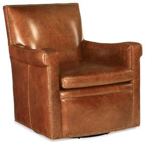 Jilian Brown Swivel Club Chair
