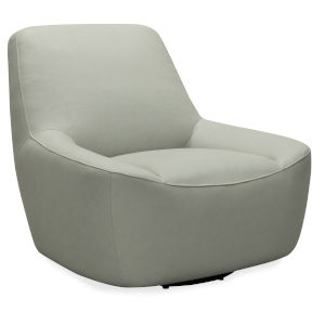 CC Gray 40-Inch Maneuver Leather Swivel Chair