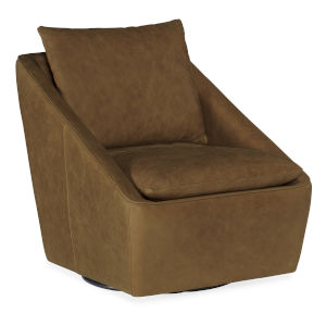Coeval Brown Swivel Club Chair