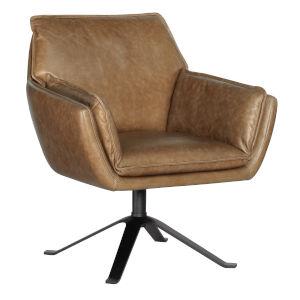 Limber Brown and Black Swivel Club Chair