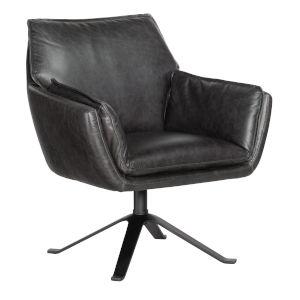 Limber Black Swivel Club Chair