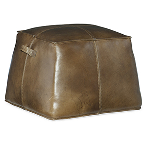 Birks Dark Brown Leather Ottoman