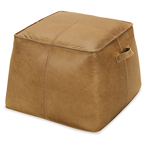 Birks Light Brown Leather Ottoman
