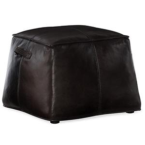 Birks Black Leather Ottoman
