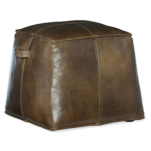 Dizzy Dark Brown Leather Ottoman