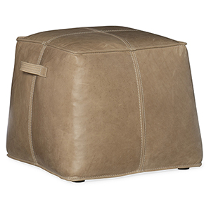 Dizzy Brown Leather Ottoman