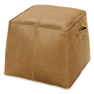 Dizzy Light Brown Leather Ottoman