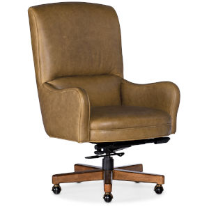 Dayton Medium Wood with Gold Executive Swivel Tilt Chair