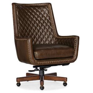 Kent Dark Wood Executive Swivel Tilt Chair