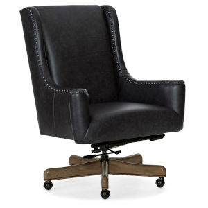 Lily Medium Wood with Black Executive Swivel Tilt Chair