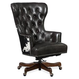 Black and White Katherine Executive Swivel Tilt Chair