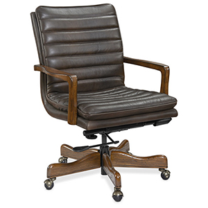 Dark Wood Langston Executive Swivel Tilt Chair