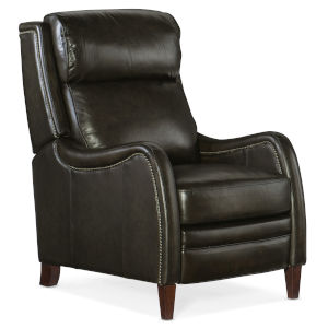 Stark Dark Wood Gray Push Back Recliner
