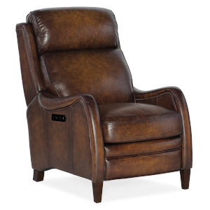 Stark Dark Wood Power Recliner with Power Headrest