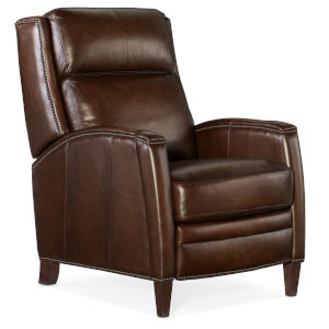 Declan Dark Wood Push Back Recliner