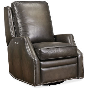 Kerley Distressed Brown Swivel Glider Recliner