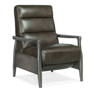 Marlin Patina Pushback Recliner with Exposed Wood Arm