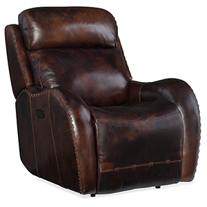 Chambers Brown Power Recliner with Power Headrest