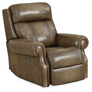 MS Brown 39-Inch Brooks Power Recliner
