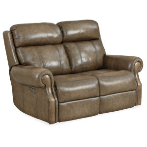 MS Brown 62-Inch Brooks Power Recliner