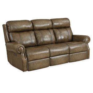 MS Brown 85-Inch Brooks Power Recliner
