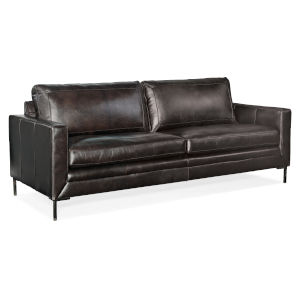 Black 84-Inch Stationary Sofa