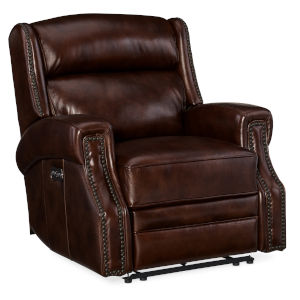 Brown 38-Inch Recliner Chair with Power Headrest