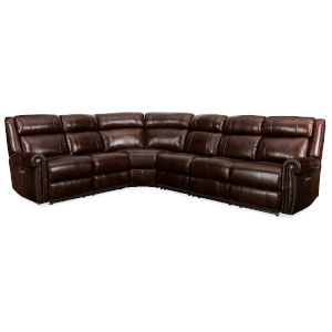 Brown 123-Inch Sectional Sofa