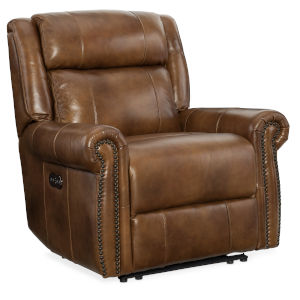 Brown 39-Inch Recliner Chair with Power Headrest